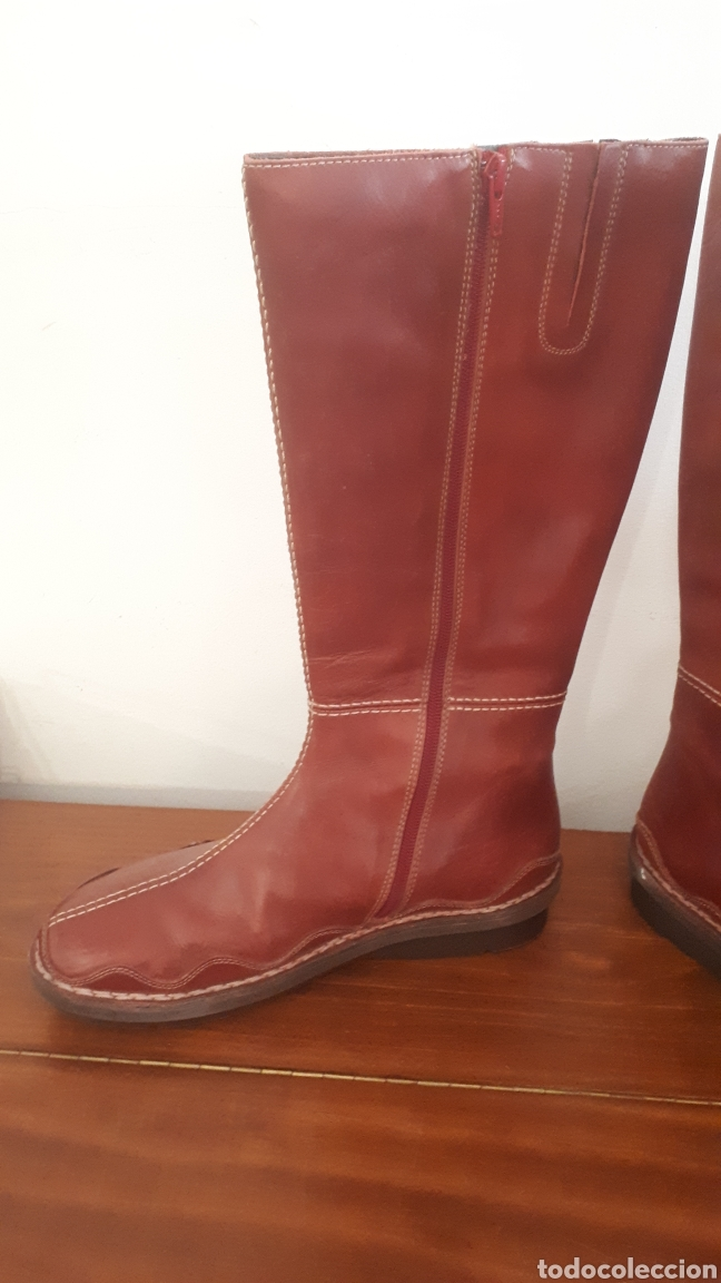 Nuevo: Botas altas rojas Pikolinos piel n° 40 - Foto 3 - 195462113