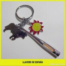 Nuevo: LLAVERO DE ESPAÑA ** TORO SOL Y ARENA ** . Lote 195501250