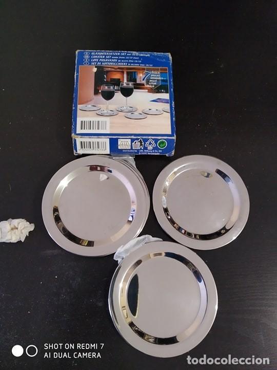 Nuevo: lote 6 platos para el pan o posavasos metalicos nuevos a estrenar, mesa, juego 6 platos - Foto 2 - 197304090