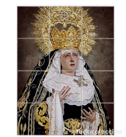 RETABLO DE 12 AZULEJOS 10X10 CTM DE MARÍA SANTÍSIMA DE LOS DOLORES DE SEVILLA -PENAS DE SAN VICENTE (Artículos Nuevos)