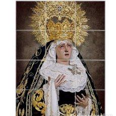 Nuevo: RETABLO DE 12 AZULEJOS 10X10 CTM DE MARÍA SANTÍSIMA DE LOS DOLORES DE SEVILLA -PENAS DE SAN VICENTE. Lote 198305817