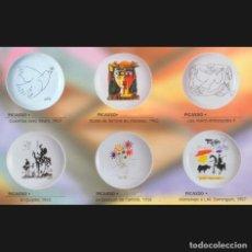 Nuovo: PLATO DE PORCELANA 12 CM CON REPRODUCCIONES DE PICASSO (COLECCIÓN 6 PLATOS). Lote 248597175