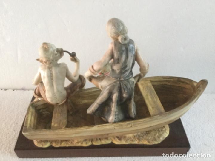 Nuevo: Figura grupo de pescadores. Fontanini. - Foto 2 - 221463485