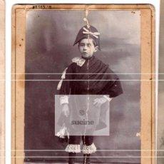 Nuovo: FOTOGRAFIA DE ESTUDIO JOVEN TUNO DEL FOTOGRAFO G.COLON DE CASTELLON 1908. Lote 227743295