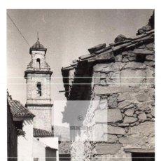 Novo: CALLE Y CAMPANARIO DE CAMPOS DE ARENOSO ANTES DE SU DESAPARICIÓN EN LOS 80 CASTELLON. Lote 228361115
