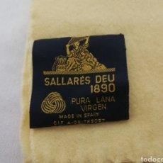 Novo: BUFANDA DE PURA LANA VIRGEN. SALLARES DEU 1890.VINTAJE.NUEVA. Lote 233168530