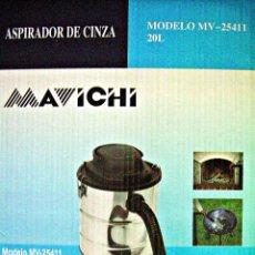 Nuevo: ASPIRADOR DE CENIZA PARA HOGARES Y BARBACOAS MAVICHI MV-25411 20 LITROS. Lote 233672190