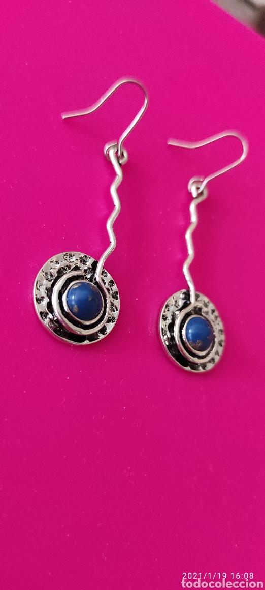 Nuevo: Preciosos pendientes artesanales mexicanos. Lapislázuli - Foto 2 - 235958420