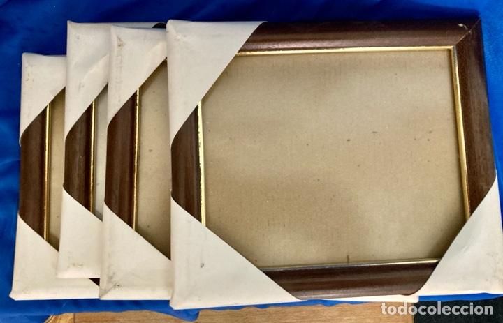 Nuevo: 4 portafotos de madera y metal o marcos con Cristal protector,para cuadros pequeños, a estrenar - Foto 2 - 262018160