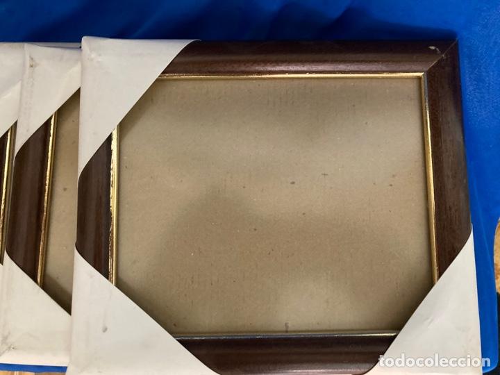 Nuevo: 4 portafotos de madera y metal o marcos con Cristal protector,para cuadros pequeños, a estrenar - Foto 3 - 262018160