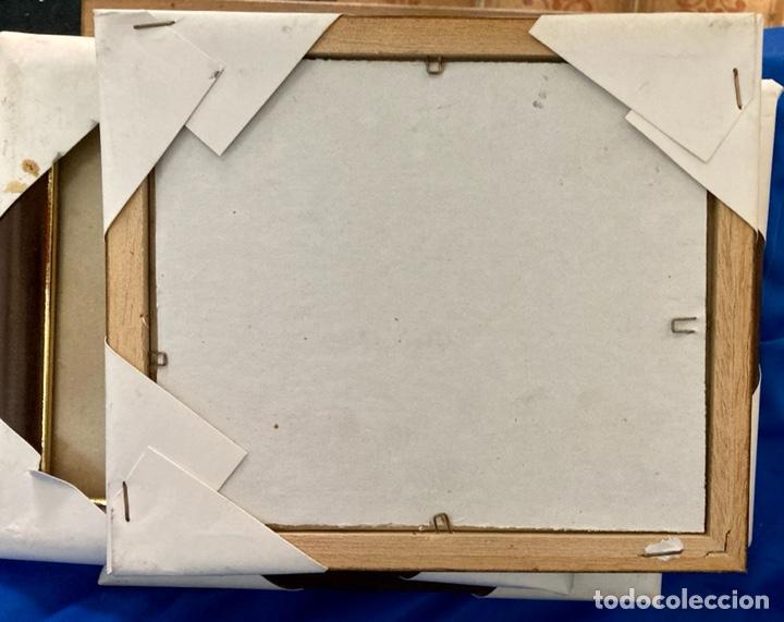 Nuevo: 4 portafotos de madera y metal o marcos con Cristal protector,para cuadros pequeños, a estrenar - Foto 4 - 262018160