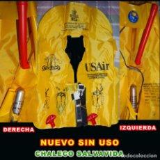 Nuevo: CHALECO SALVAVIDA USAIR ** NUEVO SIN USO **. Lote 268942789