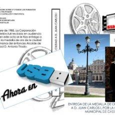 Nuevo: IMAGENES PARA EL RECUERDO AHORA EN USB ENTREGA DE LA MEDALLA DE ORO DE LA CIUDAD A JUAN CARLOS I. Lote 269971508