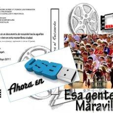 Nuevo: IMAGENES PARA EL RECUERDO AHORA EN USB ESA GENTE MARAVILLOSA (CASTELLON). Lote 269972453