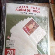 Nuevo: 20 HOJAS SLIPIN PARA ALBUM DE ANILLAS FOTO 10 X 15 A -AÑOS 90 -SIN ABRIR. Lote 270187888