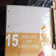 Nuevo: 15 HOJAS SLIPIN PARA ALBUM DE ANILLAS FOTO 10 X 15 B -AÑOS 90 -SIN ABRIR. Lote 270187903