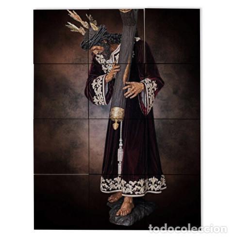 RETABLO DE 12 AZULEJOS 10X10 CTM DE NUESTRO PADRE JESÚS DE LA PASIÓN DE SEVILLA (COFRADÍA DE PASIÓN) (Artículos Nuevos)