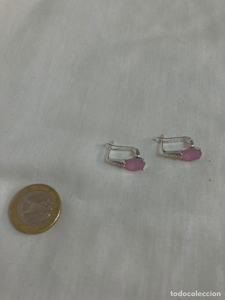 Nuevo: Pendiente de plata y piedra natural , sin uso . - Foto 3 - 287717848