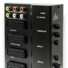 Nuevo: CONTROLADOR PROCESADOR DE AUDIO-VIDEO 4-EUROCONECTORES-SCART Y 6-RCA ¡NUEVO!. Lote 288383368