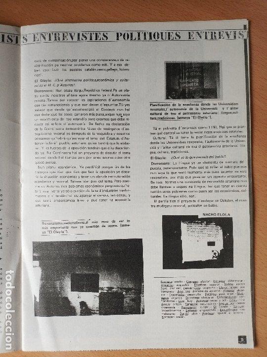 Otras Lenguas Locales: REVISTA EL GLAYIU FUEYES UNIVERSITARIES ASTURIANU ASTURIANO XINERU 1977 ASTURIAS - Foto 3 - 181580680