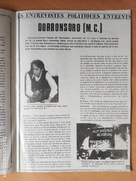 Otras Lenguas Locales: REVISTA EL GLAYIU FUEYES UNIVERSITARIES ASTURIANU ASTURIANO XINERU 1977 ASTURIAS - Foto 4 - 181580680