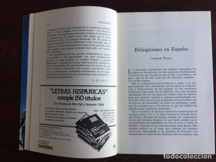 Otras Lenguas Locales: Revista de Occidente. El bilingüismo Problema y Realidad. Desarrollo del bilingüismo en España - Foto 4 - 182226275