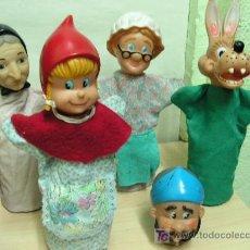 Otras Muñecas de Famosa: MARIONETAS CUENTO CAPERUCITA. CUELLO FAMOSA MADE IN SPAIN. Lote 27642781