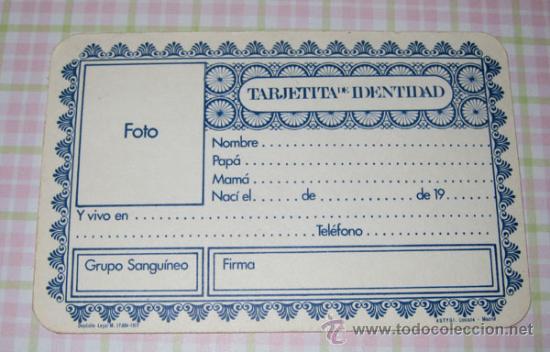 Otras Muñecas de Famosa: CURIOSISIMA Y MONISIMA TARJETITA DE IDENTIDAD DE NENUCO EL BENJAMIN DE FAMOSA - SE TRATA DE UN DNI - Foto 2 - 15437200