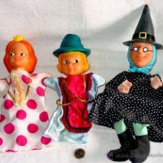 Otras Muñecas de Famosa: 3 MARIONETAS GUIÑOL FAMOSA. BLANCANIEVES. VESTIDOS ETIQUETA FAMOSA. AÑOS 70-80. Y BRUJA 3 MELLIZAS. Lote 41645002