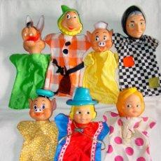 Otras Muñecas de Famosa: LOTE 7 MARIONETAS DE GUIÑOL DE FAMOSA. AÑOS 70-80. CERDITO, ENANITO, LOBO, BLANCANIEVES MARIONETA.. Lote 45401129