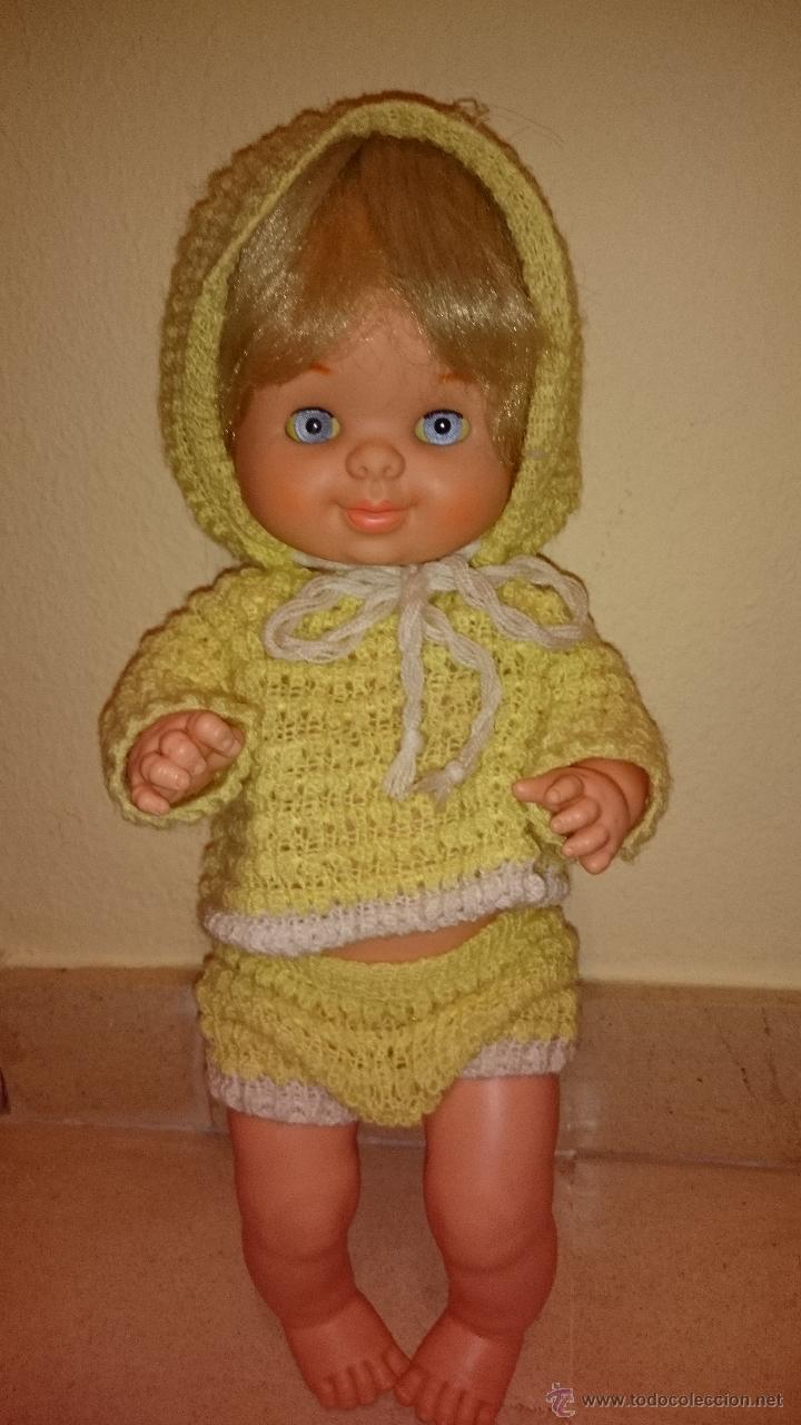 Otras Muñecas de Famosa: FAMOSA MUÑECA BEBE MADE IN SPAIN IRIS MARGARITA AZUL,CON SU VESTIDO ORIGINAL. AÑOS 70 - Foto 2 - 47579891