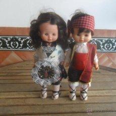 Otras Muñecas de Famosa: PAREJA DE MUÑECOS MUÑECA DE FAMOSA TRAJES REGIONALES MARI LOLI MARILOLI Y LOLO PELO MORENO. Lote 50627904