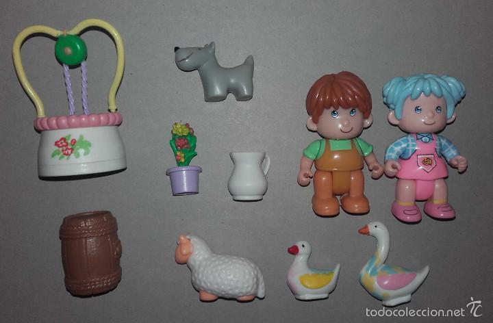 Otras Muñecas de Famosa: LOTE MUÑECO Y MUÑECA PIN Y PON PINYPON DE FAMOSA PERRO OVEJA PATO POZO BELEN - Foto 3 - 56283291