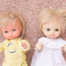 Otras Muñecas de Famosa: PAREJA CHIQUITINES DE FAMOSA, UNO CON ERROR DE FABRICA EN LOS OJOS, CON PUPILA BLANCA.. Lote 56492747