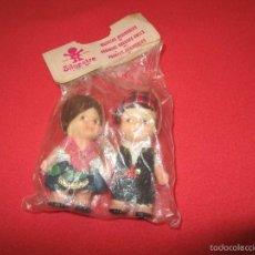 Otras Muñecas de Famosa: MUÑECOS PAREJA TIN Y TAN DE FAMOSA. VESTIDOS REGIONALES. AÑOS 60/70. Lote 56553270