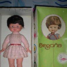 Otras Muñecas de Famosa: PRECIOSA MUÑECA BEGOÑA DE FAMOSA MORENA AÑOS 60 PESTAÑAS GRUESAS DE VINILO EN CAJA. Lote 78189877