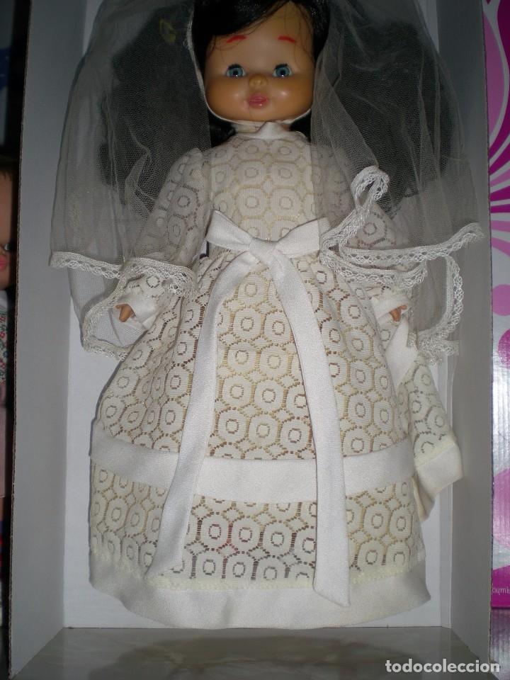 Otras Muñecas de Famosa: preciosa cabeza muñeca meggy o mari loli de famosa años 70 restaurada +regalo cuerpo y vestido novia - Foto 4 - 78190413