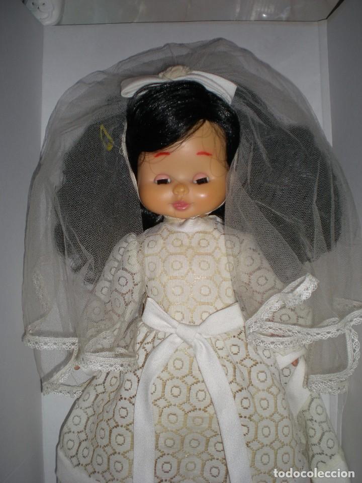 Otras Muñecas de Famosa: preciosa cabeza muñeca meggy o mari loli de famosa años 70 restaurada +regalo cuerpo y vestido novia - Foto 5 - 78190413