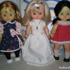 Otras Muñecas de Famosa: MUÑECA MILY VESTIDA DE COMUNION DE FAMOSA AÑOS 70 PELO RUBIO OJOS MARGARITA BUEN ESTADO FOTOS ABAJO. Lote 87376276