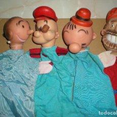 Otras Muñecas de Famosa: LOTE DE MARIONETAS AÑOS 70 DE FAMOSA,SERIE TV DE DIBUJOS POPEYE OLIVIA BLUTO O BRUTUS Y PILON. Lote 95708887