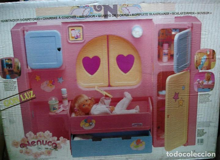 NENUCO: MÓDULO HABITACIÓN DORMITORIO CON LUZ ¡¡NUEVA, ORIGINAL Y ÚNICA!! AÑOS 90 (Juguetes - Muñeca Española Moderna - Otras Muñecas de Famosa)