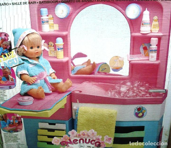NENUCO: MÓDULO BAÑO CON LUZ Y AGUA ¡¡NUEVA Y ORIGINAL Y ÚNICA!! AÑOS 90 (Juguetes - Muñeca Española Moderna - Otras Muñecas de Famosa)