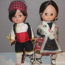 Otras Muñecas de Famosa: PAREJA DE REGIONALES DE FAMOSA OJOS MARGARITA DURMIENTES MUY BUEN ESTADO,. Lote 103242259