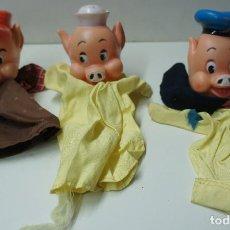 Otras Muñecas de Famosa: MARIONETAS LOS 3 CERDITOS, DE FAMOSA .. Lote 113051471