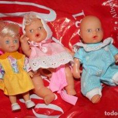 Otras Muñecas de Famosa: DOS MUÑECOS FAMOSA TIPO BARRIGUITAS Y UNO DE MATTEL . Lote 113205123