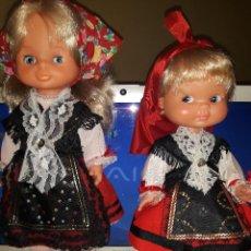 Otras Muñecas de Famosa: REGIONALES DE FAMOSA MILY Y RAPACIÑA. COMO NUEVOS. Lote 114940895