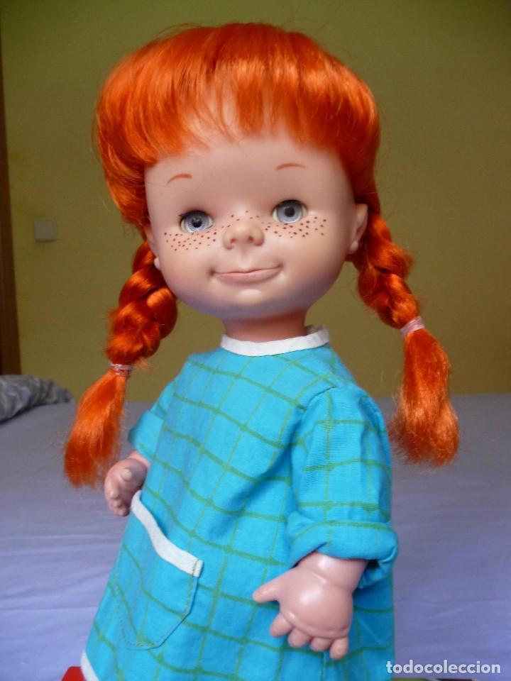 Otras Muñecas de Famosa: Muñeca Chatuca pipi pelirroja ojos azul margarita muy dificil epoca Nancy - Foto 5 - 116730595
