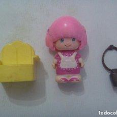 Otras Muñecas de Famosa: LOTE DE PIEZAS ANTIGUAS DE PINYPON DE FAMOSA : MUÑEQUITA, CENCERRO Y SILLON. Lote 148581682
