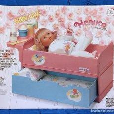 Otras Muñecas de Famosa: FAMOSA NENUCO CUNA NIDO (SIN MUÑECO). VINTAGE AÑO 1.990. NUEVO, SIN USO.. Lote 144368878