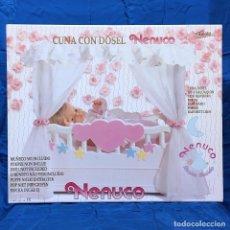 Otras Muñecas de Famosa: FAMOSA NENUCO CUNA CON DOSEL (SIN MUÑECO). VINTAGE AÑO 1.991. NUEVO, SIN USO.. Lote 144370022